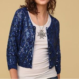 Free People Pop Star Sequin Sparkle Cardigan Small